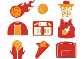 Heiße Basketball-Vektor-Ikonen