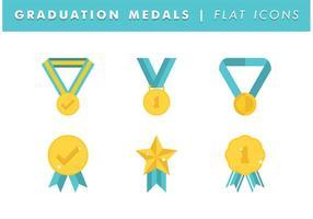 Graduación Medallas Vector Libre