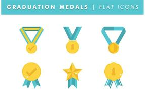 Graduation Medals Vector Free