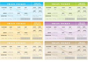 Vectores de billetes de tren