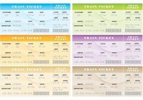 Vetores de bilhetes de trem