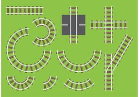 Vetores de trilhos de estrada de ferro