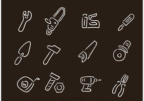 Desenhos desenhados manualmente ferramentas de reparação de construção