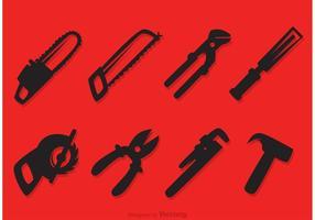 Iconos de vectores de herramientas de reparación