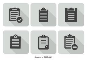 Ensemble d'icônes du Presse-papiers