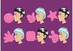 Formes vectorielles Bubblegum