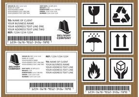 Etichette di pacchetto vettoriale