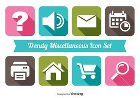 Trendy Diverse Icon Set