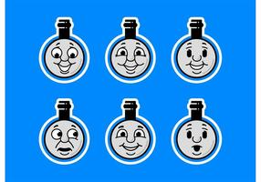 Thomas The Train Faces Conjunto de ícones