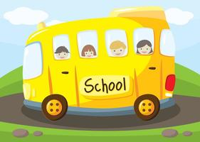Scuolabus Vector Background