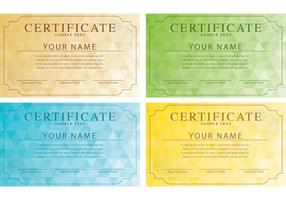 Vetores de certificados modernos