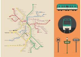 Paris Metro Vector Map