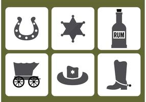 Old West Icon Vectors