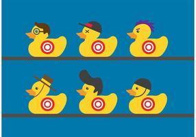 Vettori di gomma Duck Target