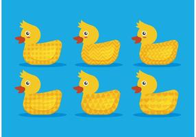 Patterned Rubber Duck Vectors