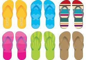 Sandalias y Flip Flop Vectores
