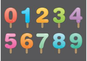 Anzahl Popsicle-Vektoren