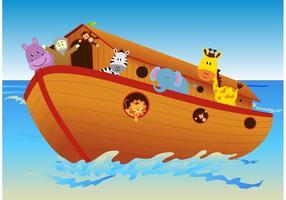 Vector Ark avec des animaux