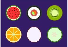 Vetores de alimentos saudáveis simples