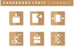 Vecteur de symboles de caisse en carton gratuit
