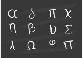 Gemalte griechische Buchstabenvektoren