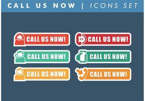 Ring oss nu ikoner vektor gratis