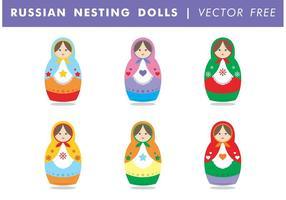 Russische Nesting Dolls Vector Gratis