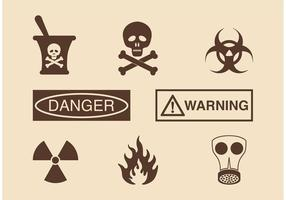 Danger And Warning Vector Icons