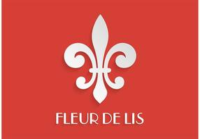 Free Paper Fleur De Lis Vector Illustration