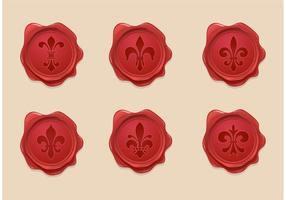 Conjunto livre de vetores de sementes de cera de flor de lis