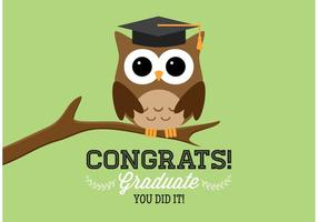 Gratis Graduation Owl Vector Card