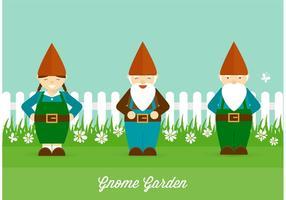 Jardín de gnomos gratis Vector