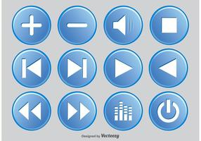 Media player knop set