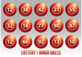 Lotteri / Bingo Ball Vector Set