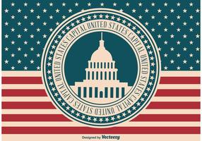 Vintage Style us illustration de capital