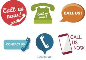 Various Call Us Now Icons vector