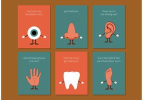 Body Parts Get Well Soon Cards Free Vector