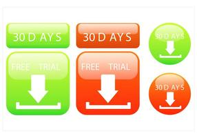 30 Day Free Trial Vector Design Set