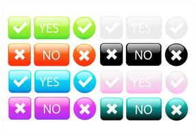Big Colorful Button Vektor-Set