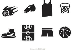 Icone di vettore di pallacanestro
