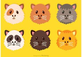 Guinea Pig Cute Face Vectors