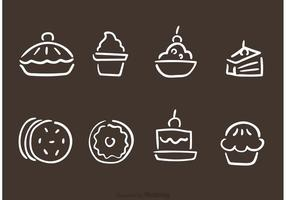 Mano Dibujado Panadería Y Pasteles Vectores