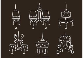 Hand Drawn Chandelier Vectors