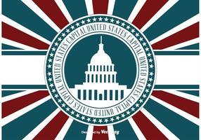 US Capital Retro llustration