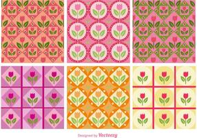 Patrones florales de color rosa