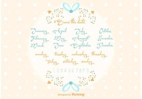 Vector Bewaar de Datum Wedding Lettering