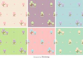 Fundos de vetores florais pastel