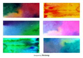 Watercolored Backgrounds vector