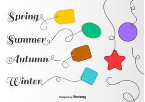 Saisonale Preisschild-Vektoren