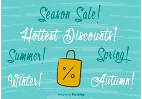 Seasonal Hot Sale Handmade Lettering vector